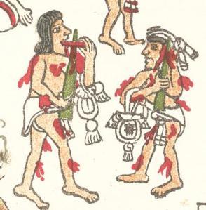 Autosacrifice in the Codex Magliabecchiano, p.79R
