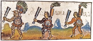 Aztec Warriors With Macuahuitl