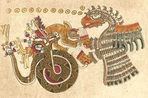 Eagle, Serpent, & Rabbit, Plate 27 of Codex Vaticanus B