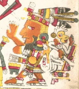 An elderly male figure, Borgia Codex Plate 57