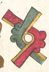 Ollin, Plate 10 of the Codex Borbonicus